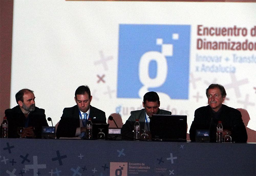 Avilés, Rodríguez Salas, Bueno y Lobatón, durante el debate de alcaldías 2.0.
