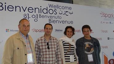 José Luis Salamanca, Amador Parrado, Isabel de las Heras y Juan Antonio Hidalgo.