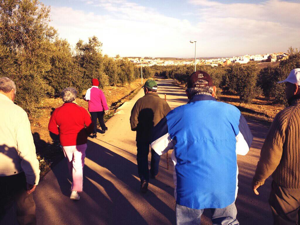Participantes en la ruta de Casariche