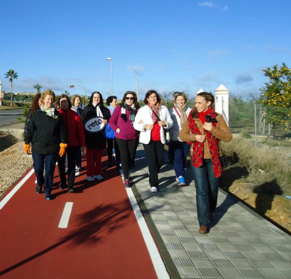 Ruta de senderimo en Salteras