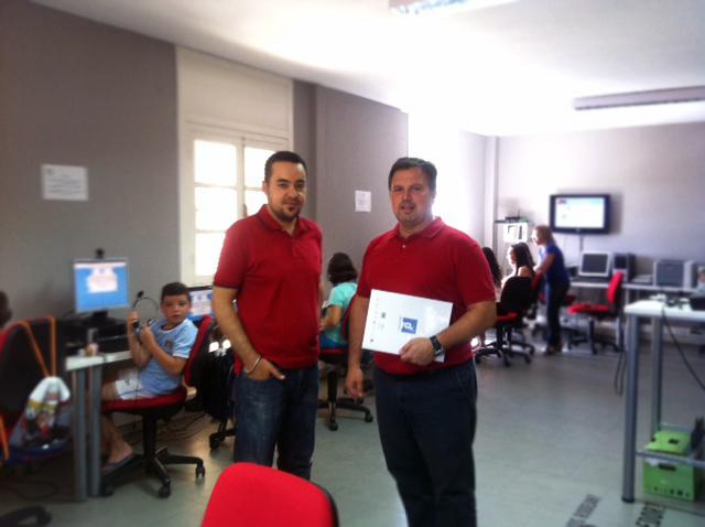 Visita del Diretor General Ismael Perea al centro Guadalinfo Olula del Río