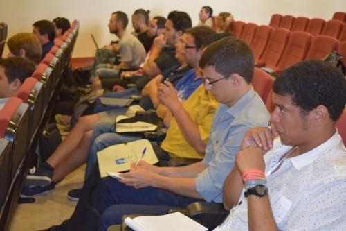 Participantes en la primer jornada de Guadalinfo Impulsa celebrada en Vélez Málaga