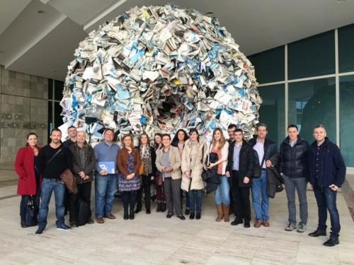 Foto de grupo de responsables de redes telecentros españolas