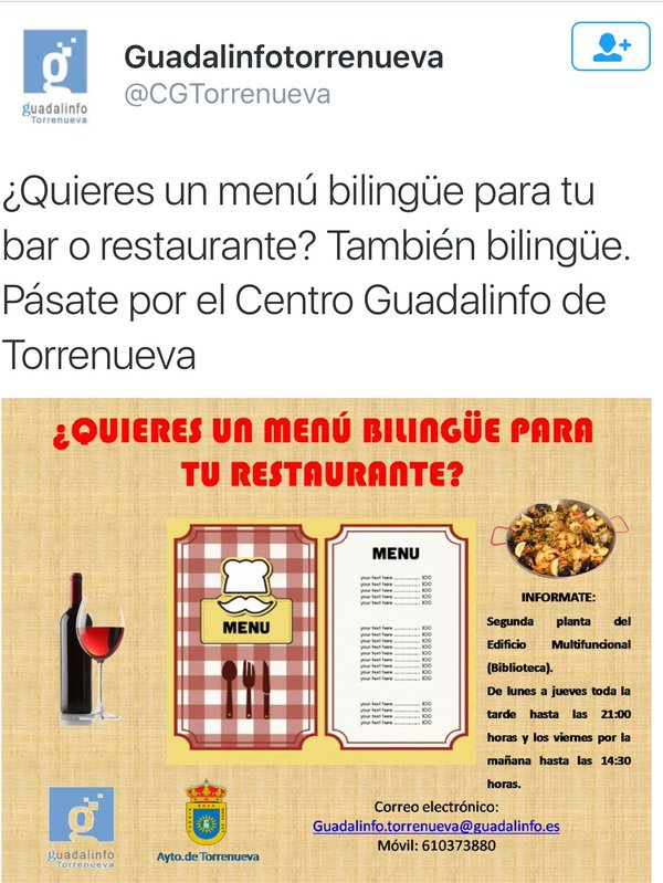 menu bilingue torrenueva