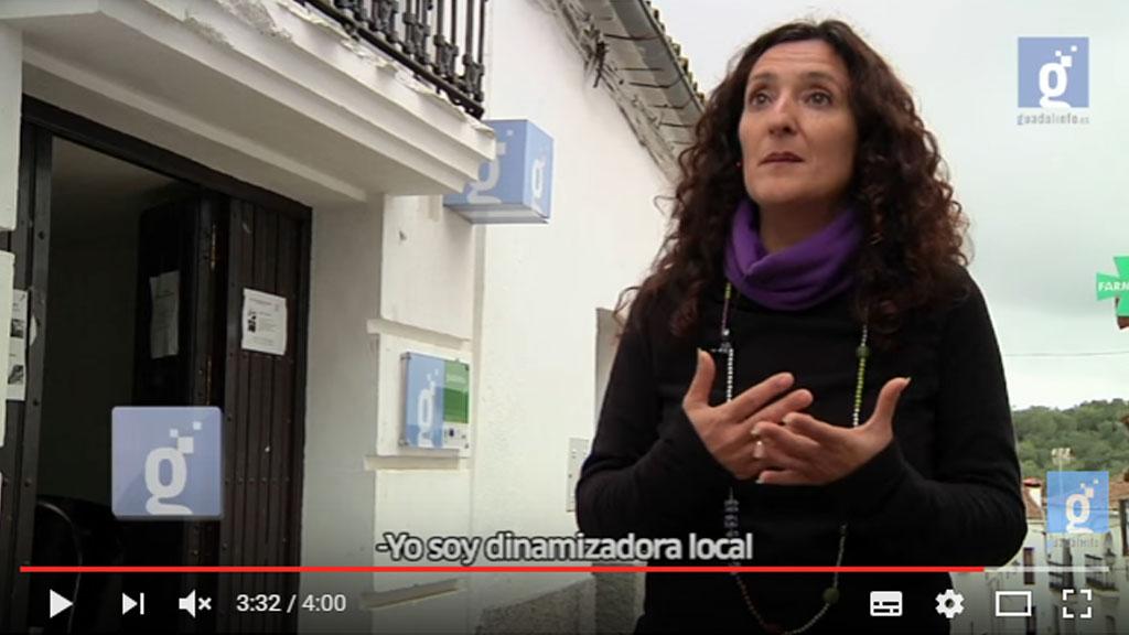 Ejemplo de plano medio. Entrevista a Manuela Pérez AIL de Castaño del Robledo (Huelva) para #GuadalinfoInforma