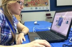 Una de las participantes en Territorio Hackathon Jerez