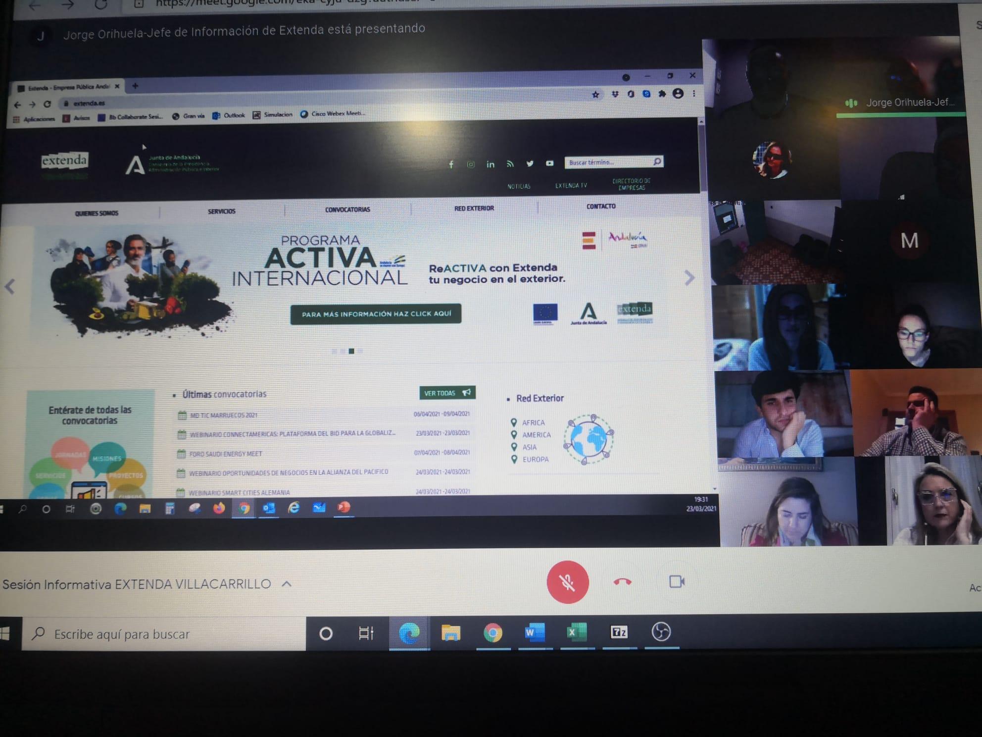 Webinar Extenda internacionalización Villacarrillo